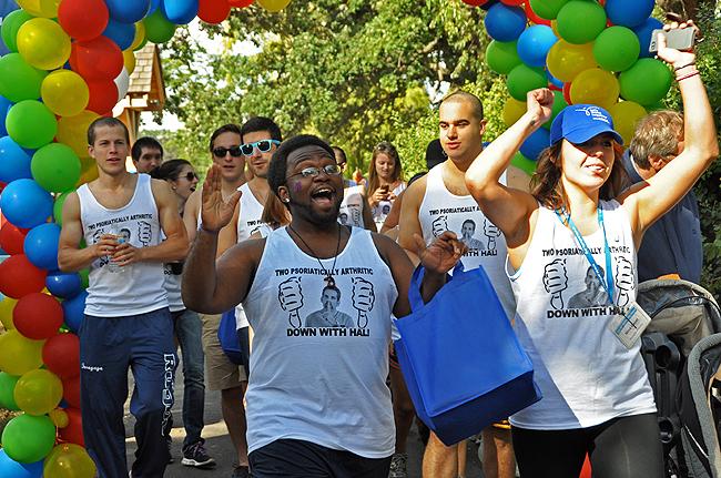 The annual Arthritis Walk, September 14, 2013, Edina, Minnesota